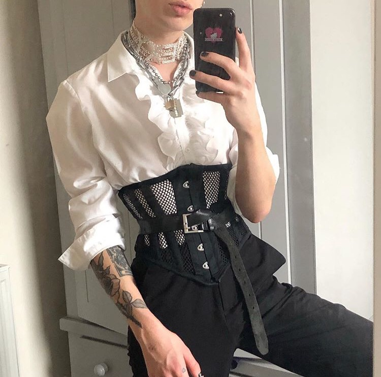 boy, corset, and fashion image