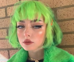 green, girls, and hair image
