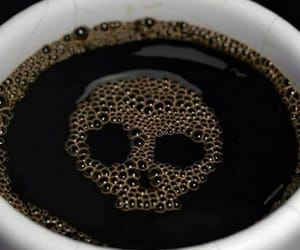 cafe, coffee, and skull image