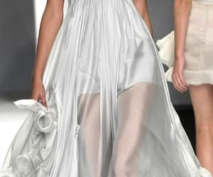 fashion, silver, and dress image