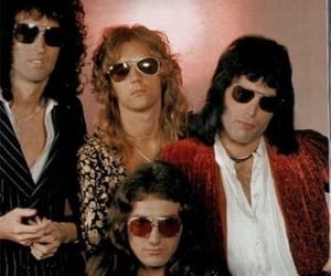 band, roger taylor, and sunglasses image