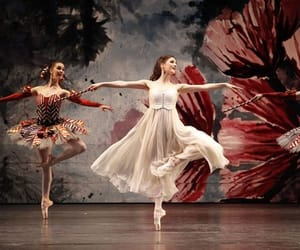 ballerina, ballet, and red image