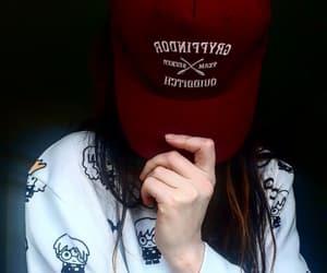 gryffindor, jumper, and hat image