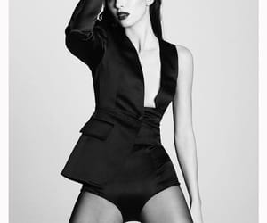 beauty, black and white, and fashion image