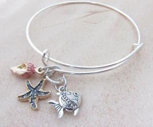 charm bracelet, etsy, and starfish jewelry image