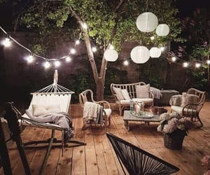 decoration, lights, and garden image