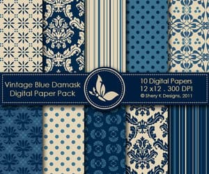 birthday, damask, and ornament image