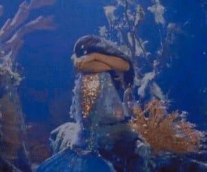 mermaid, sad, and sea image
