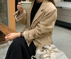 brown, coffee, and fashion image