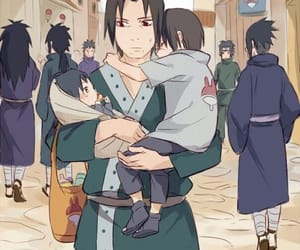 naruto, itachi, and sasuke image