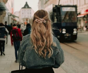 blonde, curlyhair, and city image
