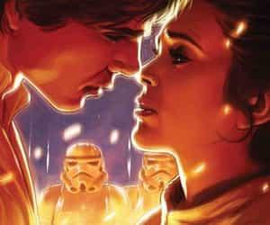 star wars and han and leia image