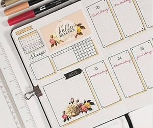 notes, planner, and school image
