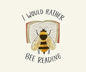 bee, book, and funny image