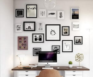 decorations, home office, and gallery wall image