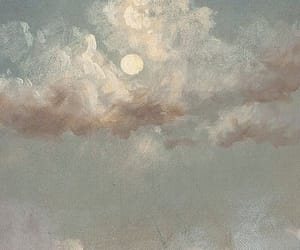 clouds, art, and moon image