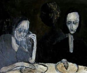 art, painting, and sadness image