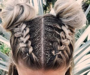 braids, hairstyle, and style image