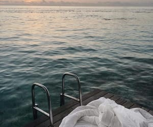 sea, summer, and beautiful image