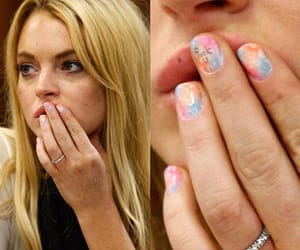 Lindsey lohan, me too, and nails image