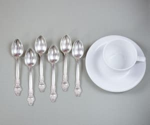 etsy, flowers pattern, and vintage spoons image