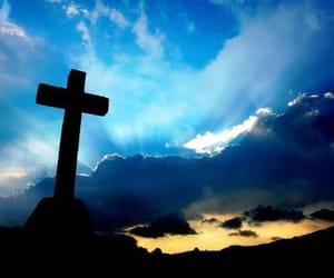 clouds, cross, and hope image