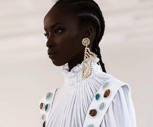 black hair, black model, and fashion image
