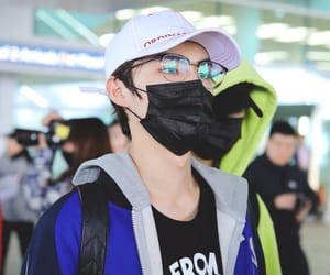 airport, chinese, and glasses image