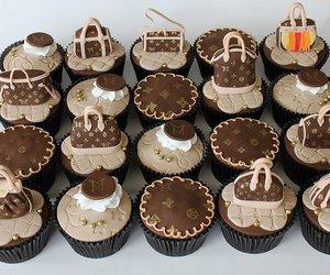 cupcake, food, and Louis Vuitton image