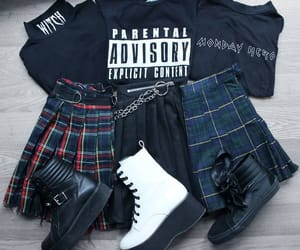 alternative, clothes, and plaid image
