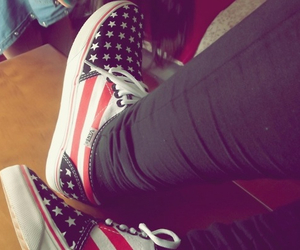 vans, usa, and shoes image