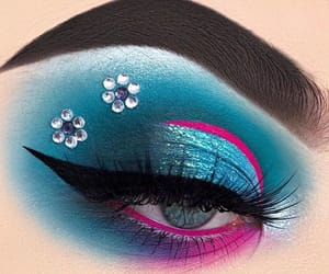 flowers, lashes, and eye look image