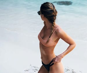 beach, summer, and bikini image