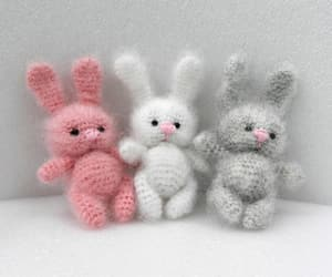 crochet toy, easter bunny, and fluffy bunny image
