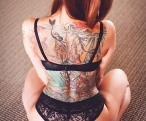little mermaid and tattos image