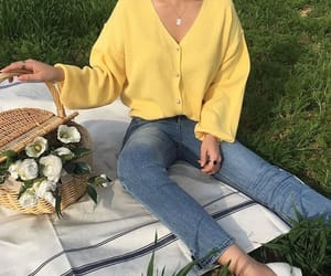 yellow, aesthetic, and picnic image
