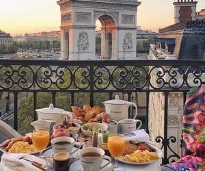 breakfast, golden, and paris image