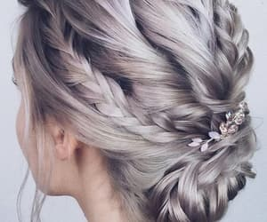 blonde, hair, and plaits image