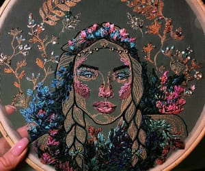 art, embroidery, and girl image