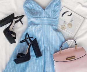 black heels, dress, and easter image