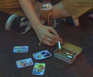 ashtray, cigarette, and cigarettes image