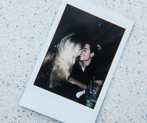 couple, kiss, and polaroid image