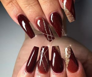 maroon, nails, and red image