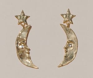 accessories, moon, and earrings image