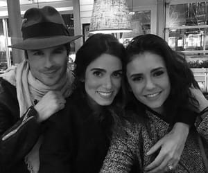 black and white, ian somerhalder, and the vampire diaries image