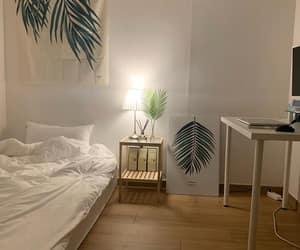 bed, cream, and decor image