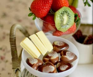 chocolate, food, and FRUiTS image