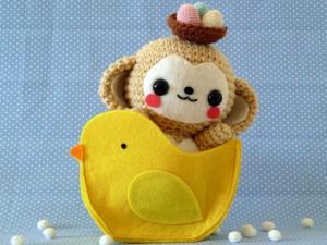 Lovely monkey Cute Easter Monkey #Amigurumi #Crochet | Crochet ... | 225x300
