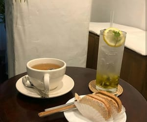 aesthetic, bread, and drink image