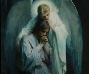 angel, jesus, and Christ image